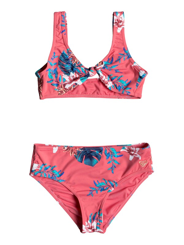 0 Girl's 7-14 ROXY Day Dream Fixed Triangle Bikini Set Pink ERGX203182 Roxy