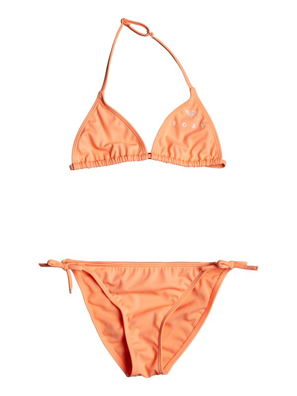 0 Surfing Free - Conjunto de Bikini Tiki Tri para Chicas 8-16 Rosa ERGX203185 Roxy