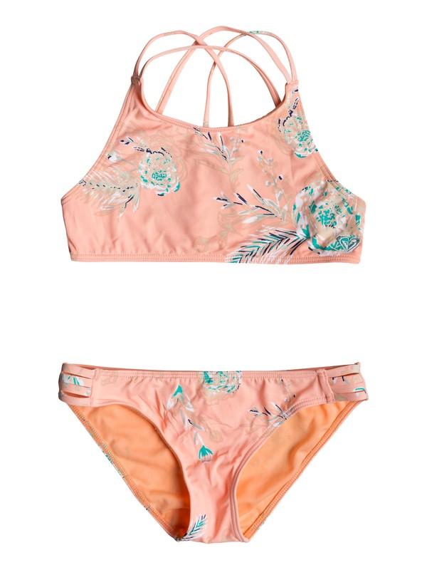 0 Darling Girl - Conjunto de Bikini Crop Top para Chicas 8-16 Rosa ERGX203191 Roxy