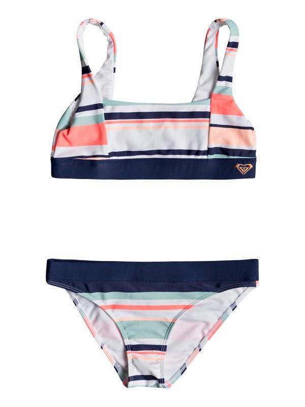 0 Girl's 7-14 Happy Spring Athletic Bikini Set White ERGX203194 Roxy