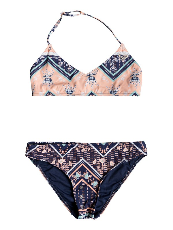 0 Heart In The Waves - Conjunto de Bikini Triangular Bralette para Chicas 8-16 Azul ERGX203198 Roxy