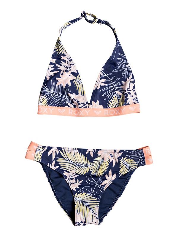 0 Bikini Point - Ensemble de bikini triangle foulard pour Fille 8-16 ans Bleu ERGX203205 Roxy
