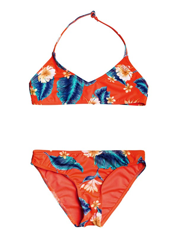 0 Seaside Lover - Ensemble de bikini bralette triangle pour Fille 8-16 ans Rose ERGX203209 Roxy