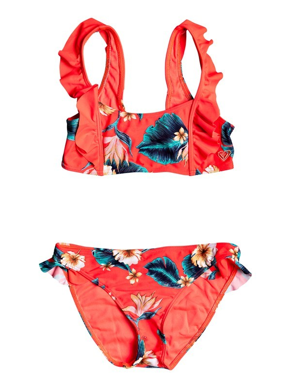 0 Girl's 7-14 Seaside Lover Athletic Bralet Bikini Set Pink ERGX203210 Roxy