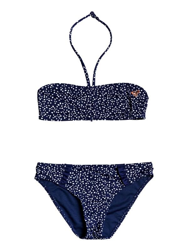 0 Seaside Lover - Conjunto de Bikini Bandeau para Chicas 8-16 Azul ERGX203211 Roxy