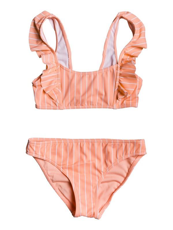 0 Girl's 7-14 Field Of Love Athletic Bikini Set Pink ERGX203223 Roxy