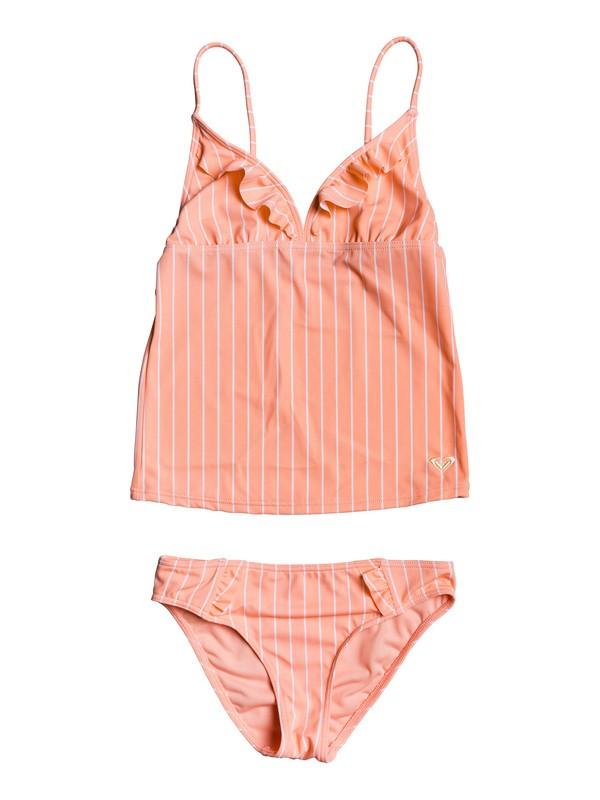 0 Girl's 7-14 Field Of Love Tankini Set Pink ERGX203227 Roxy