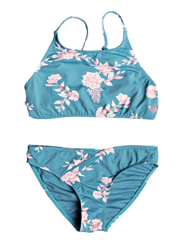 0 Girl's 7-14 Magical ROXY Crop Top Bikini Set Blue ERGX203232 Roxy