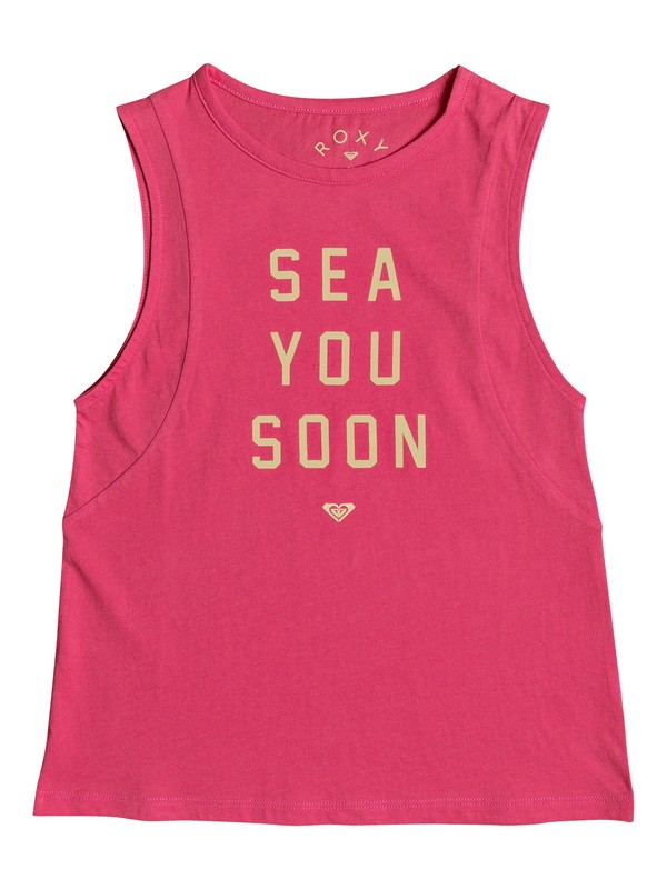 0 A Smooth Sea - Top Smanicato da Ragazza 8-16 Pink ERGZT03268 Roxy