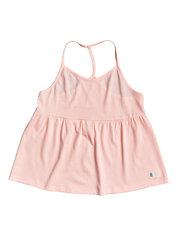 0 Girl's 7-14 Very Sweet C Strappy Peplum Top Pink ERGZT03435 Roxy