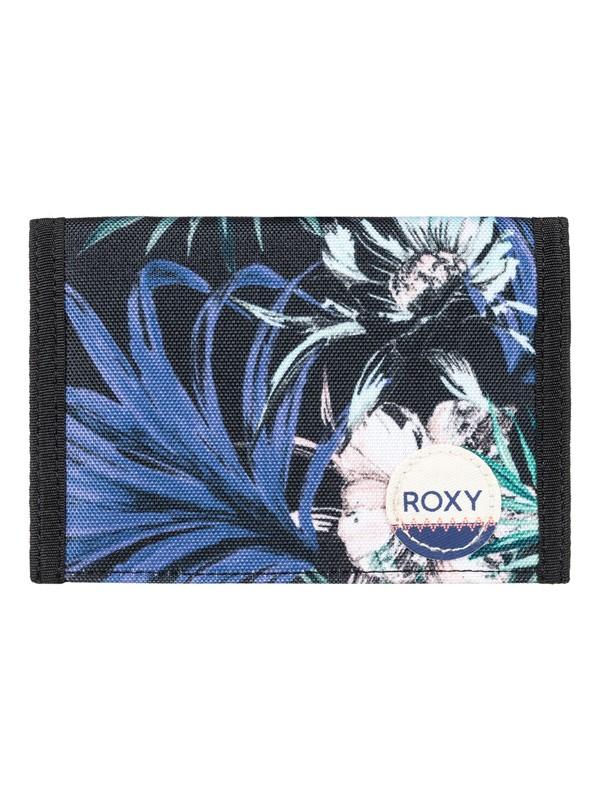 0 Beach Glass - Hook & Loop Wallet for Women Black ERJAA03308 Roxy