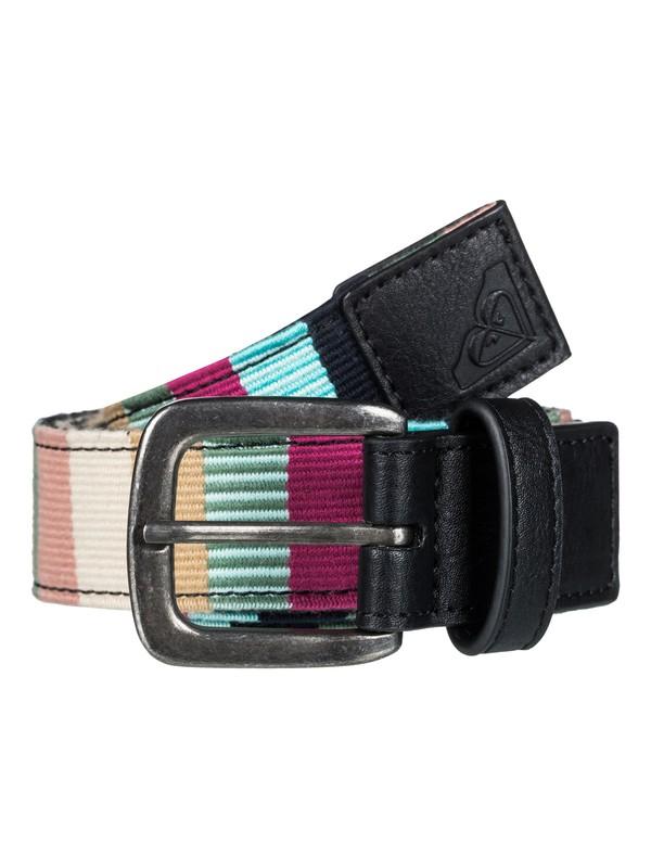 0 Pineapple Tea - Striped Mexican Belt for Women Black ERJAA03396 Roxy