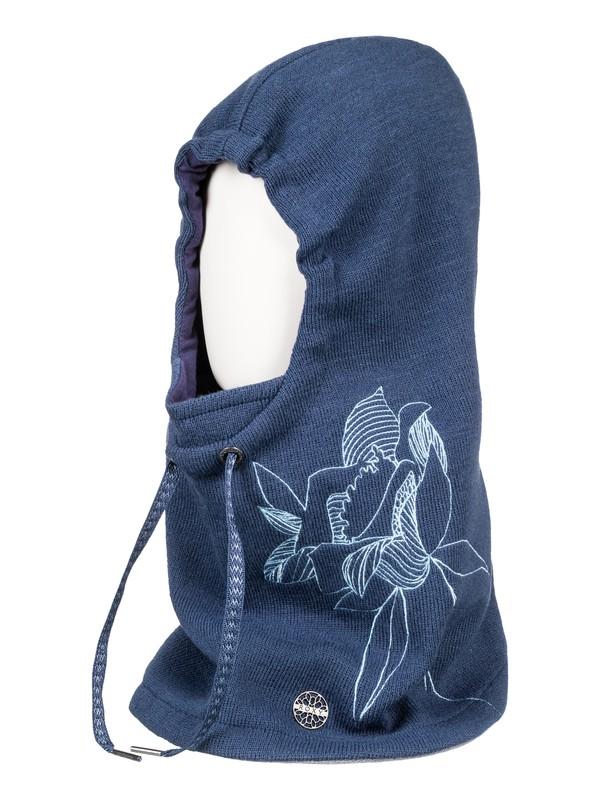 0 ROXY 2N1 - Cache-cou à capuche Bleu ERJAA03459 Roxy