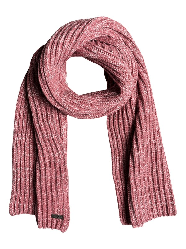 0 Let It Snow Knitted Scarf Pink ERJAA03486 Roxy