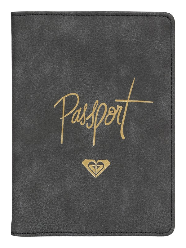 0 Live Your Dreams Faux Leather Passport Cover Black ERJAA03546 Roxy