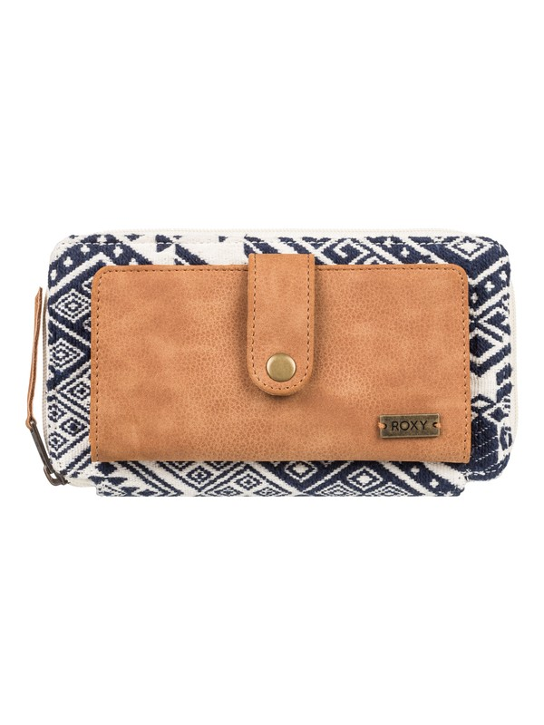 0 Natural State A Zip Around Wallet Blue ERJAA03548 Roxy