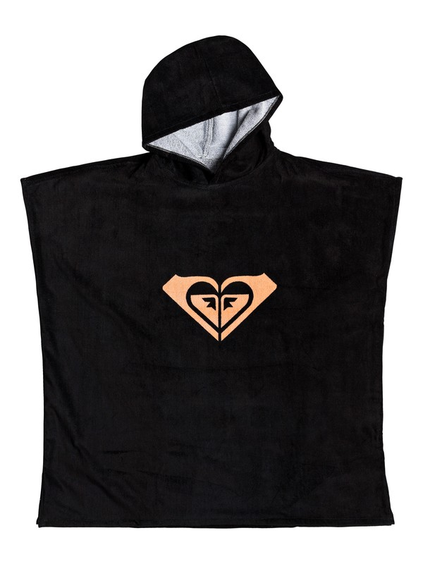 0 Pass This On Again Surf Poncho Black ERJAA03561 Roxy
