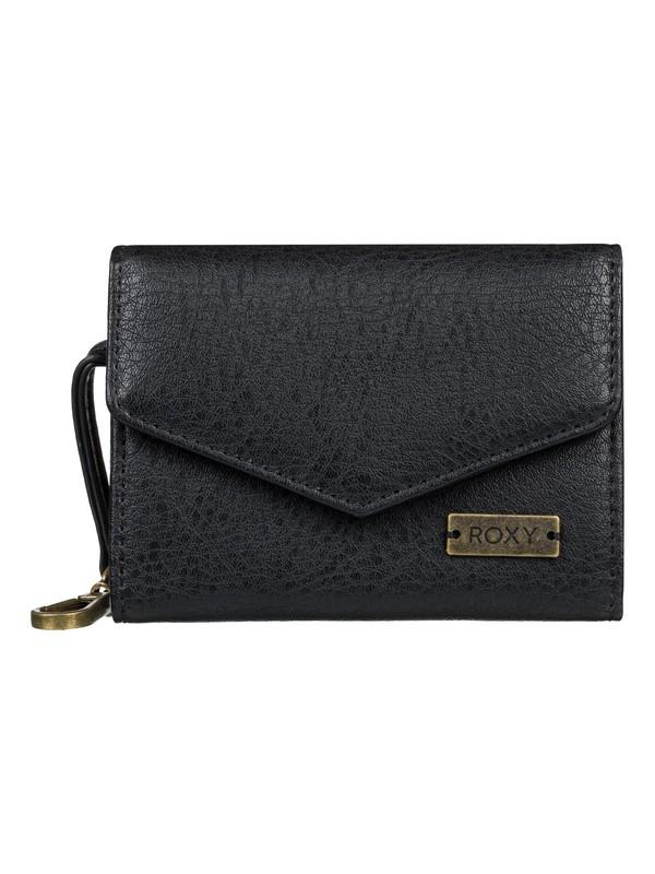 0 Silver Ocean Faux Leather Wallet Black ERJAA03596 Roxy