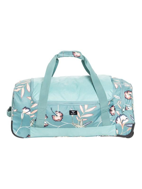 0 Distance Accross Large Wheeled Duffle Bag Blue ERJBL03124 Roxy