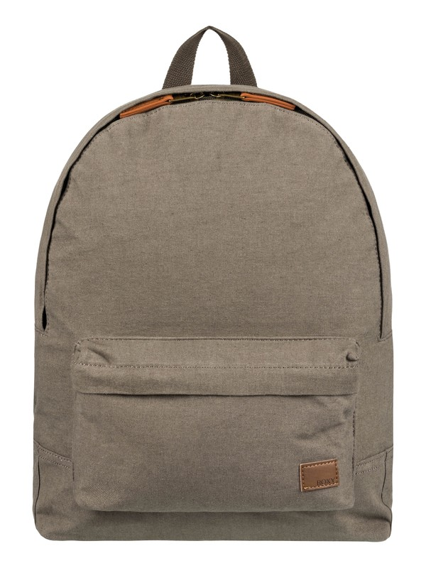0 Sugar Baby Canvas Colorblock 16L Small Backpack Brown ERJBP03694 Roxy