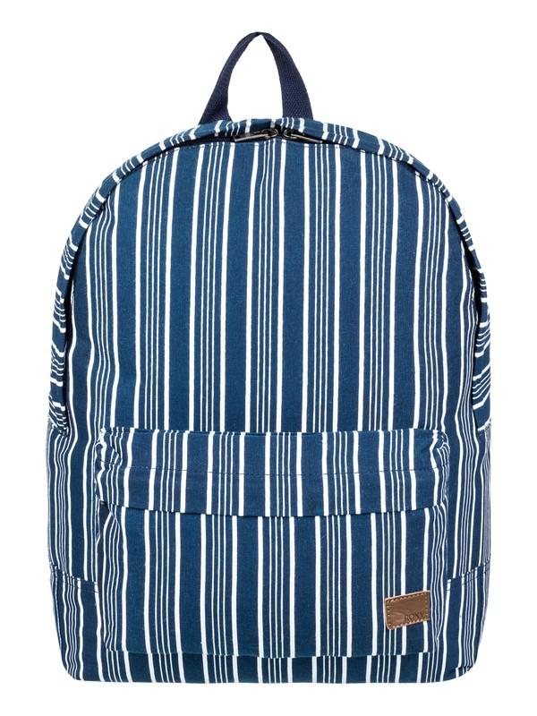 0 Sugar Baby Canvas 16 L Small Backpack Blue ERJBP03742 Roxy