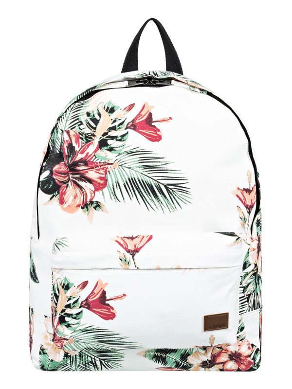 0 Sugar Baby Canvas 16L Small Backpack White ERJBP03786 Roxy