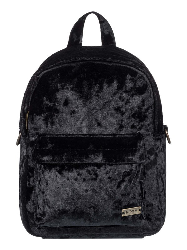 0 Walking Away Convertible Mini Velvet Backpack Black ERJBP03822 Roxy