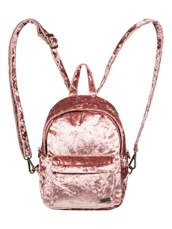 0 Walking Away Convertible Mini Velvet Backpack Pink ERJBP03822 Roxy