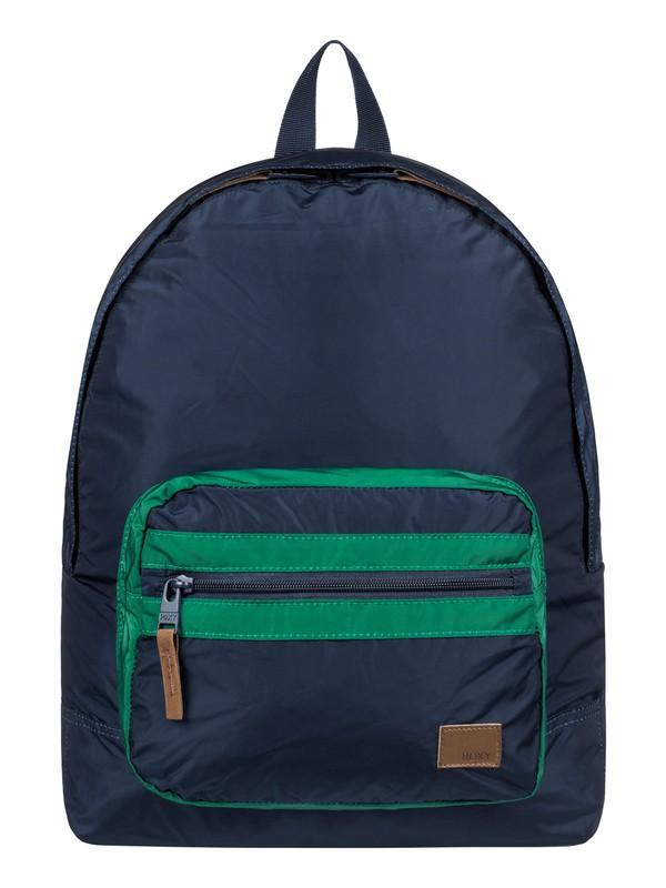 0 Morning Light Colorblock 16L Small Backpack Blue ERJBP03841 Roxy