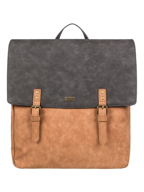 0 Get Free 9L - Extra Small Faux Leather Backpack Orange ERJBP03850 Roxy