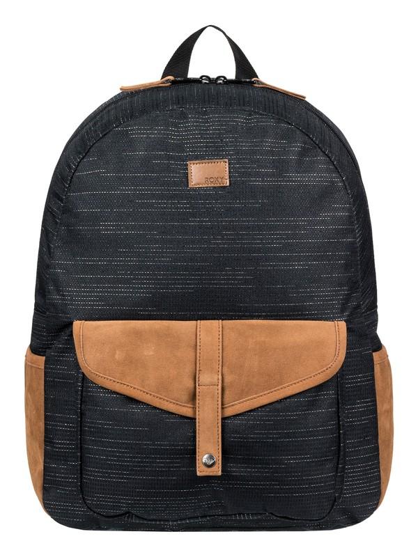0 Carribean Solid 18L - Medium Backpack Black ERJBP03914 Roxy