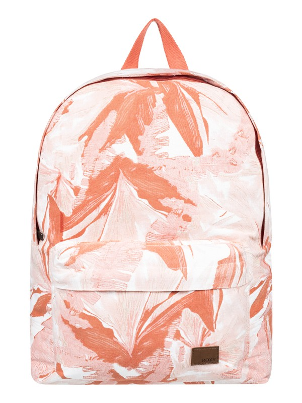 0 Sugar Baby Canvas 12L Small Backpack White ERJBP03922 Roxy
