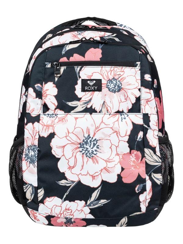 0 Here You Are 23L Medium Backpack Black ERJBP03924 Roxy