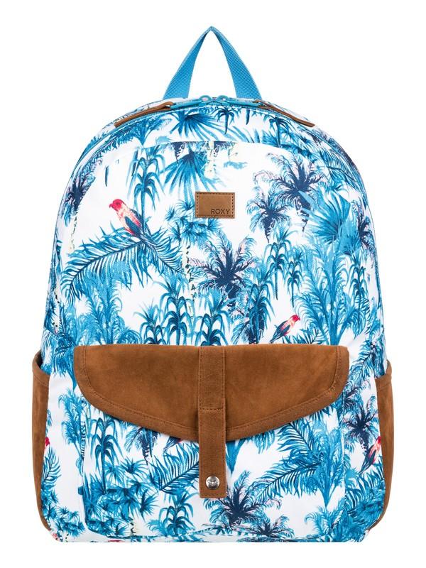 0 Carribean 18L Medium Backpack White ERJBP03926 Roxy