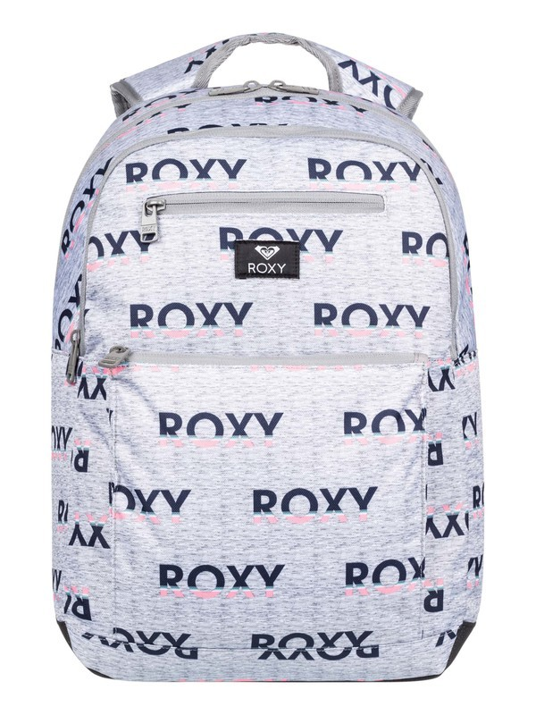 0 Here You Are 23.5L Medium Backpack Grey ERJBP03952 Roxy