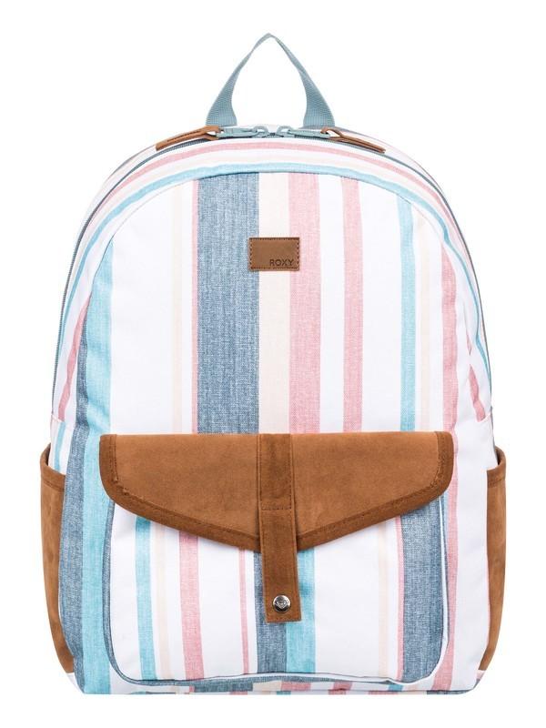 0 Carribean Medium Backpack White ERJBP03968 Roxy