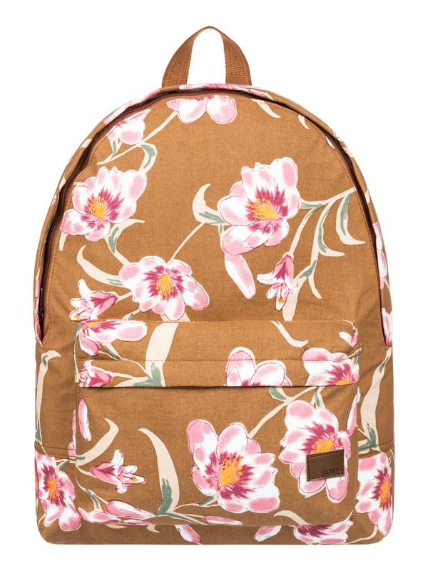 0 Sugar Baby Canvas 16L Medium Backpack Brown ERJBP03971 Roxy