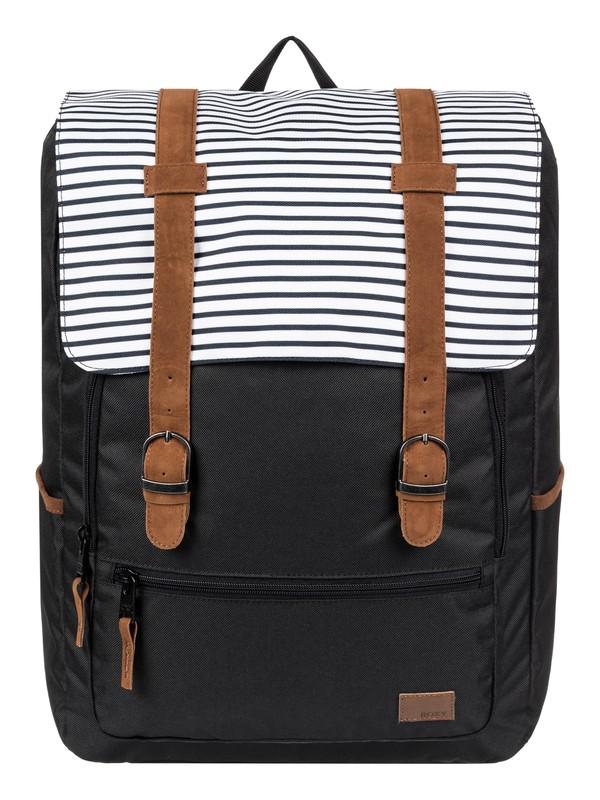 0 Ocean Vibes 18L Medium Backpack Black ERJBP03972 Roxy