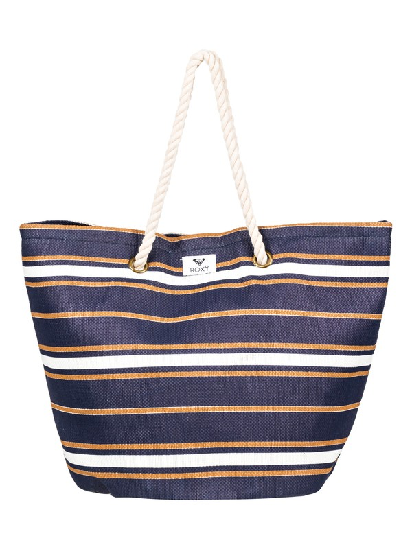 0 Sunseeker 30L Straw Beach Bag Blue ERJBT03121 Roxy