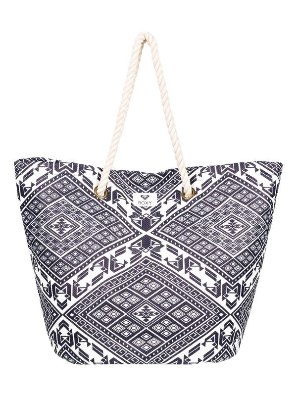 0 Sunseeker 30L - Strandtasche aus Stroh Blau ERJBT03121 Roxy