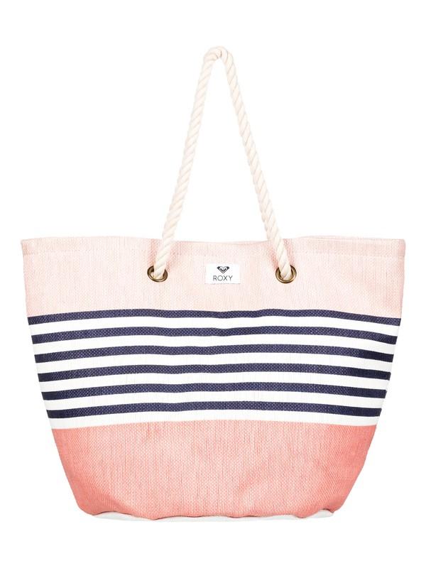 0 Sunseeker 30L - Strandtasche aus Stroh Rosa ERJBT03121 Roxy