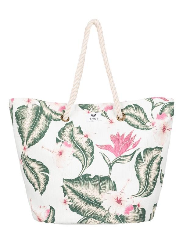 0 Sunseeker 30L - Strandtasche aus Stroh Weiss ERJBT03121 Roxy