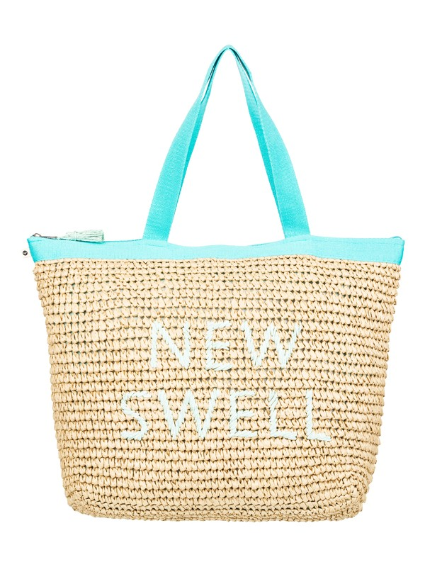 0 Heard That Sound Straw Tote Bag Green ERJBT03126 Roxy