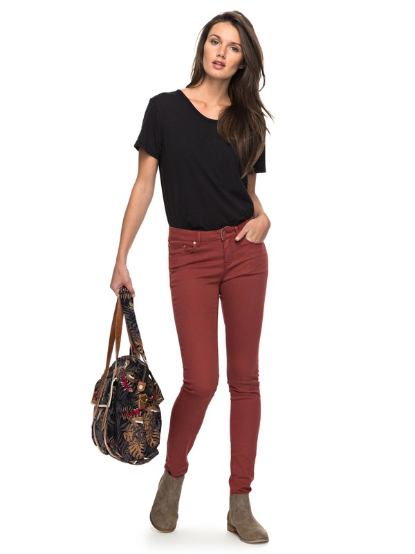0 Suntrippers Colors Skinny Fit Jeans Red ERJDP03158 Roxy