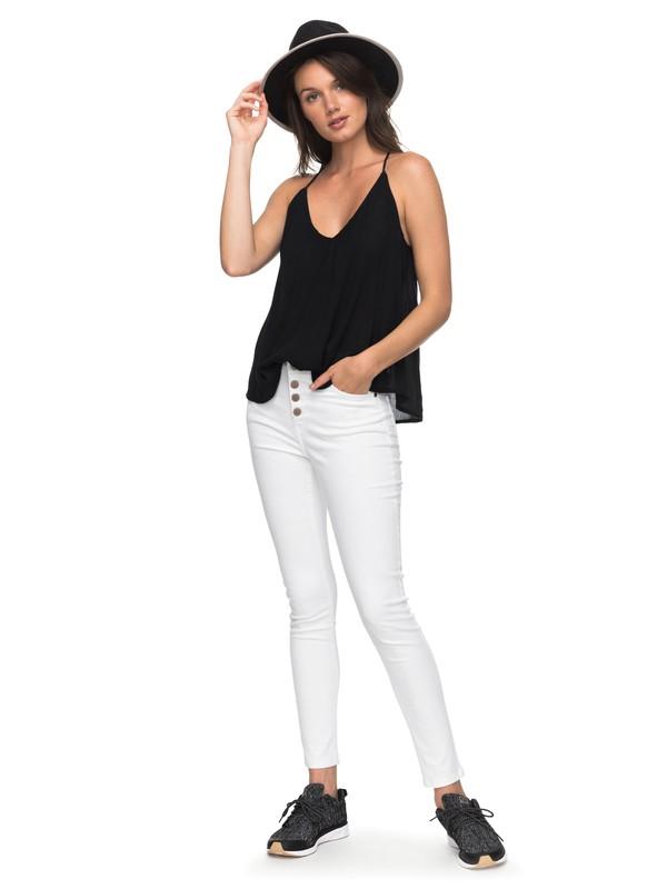 0 Long Island - Jean skinny pour Femme Blanc ERJDP03185 Roxy