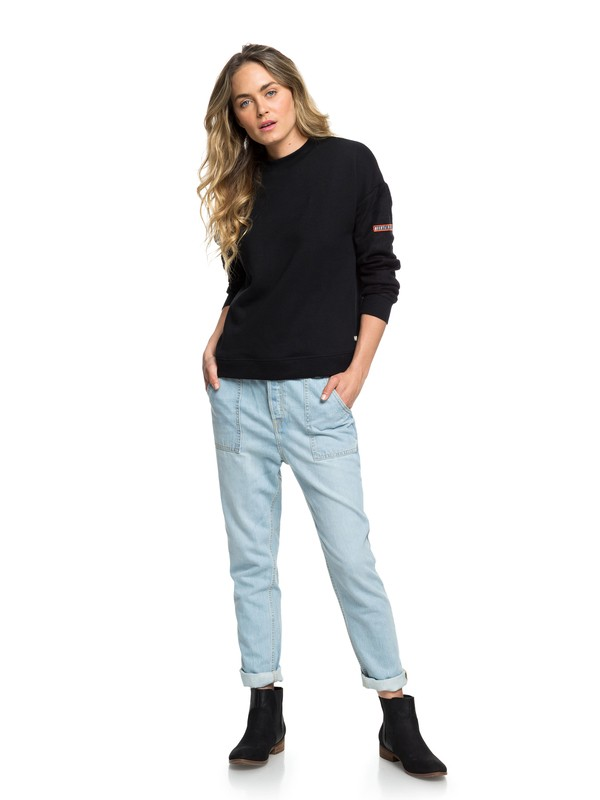 0 Crazy Night - Jean ample pour Femme Bleu ERJDP03195 Roxy