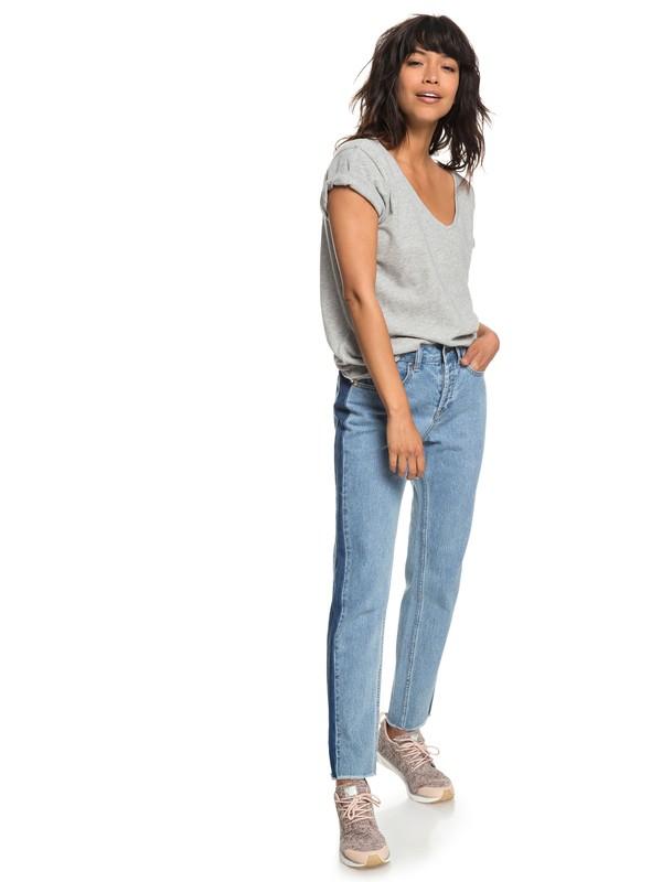 0 Cloudy Days - Boyfriend Fit Jeans for Women Blue ERJDP03196 Roxy