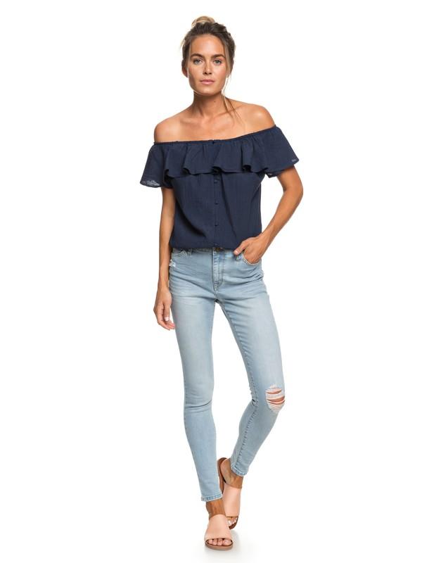 0 Jeans de Ajuste Skinny Bali Bird Azul ERJDP03205 Roxy