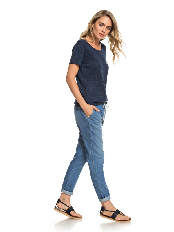 0 Beachy Denim Beach Pants Blue ERJDP03206 Roxy