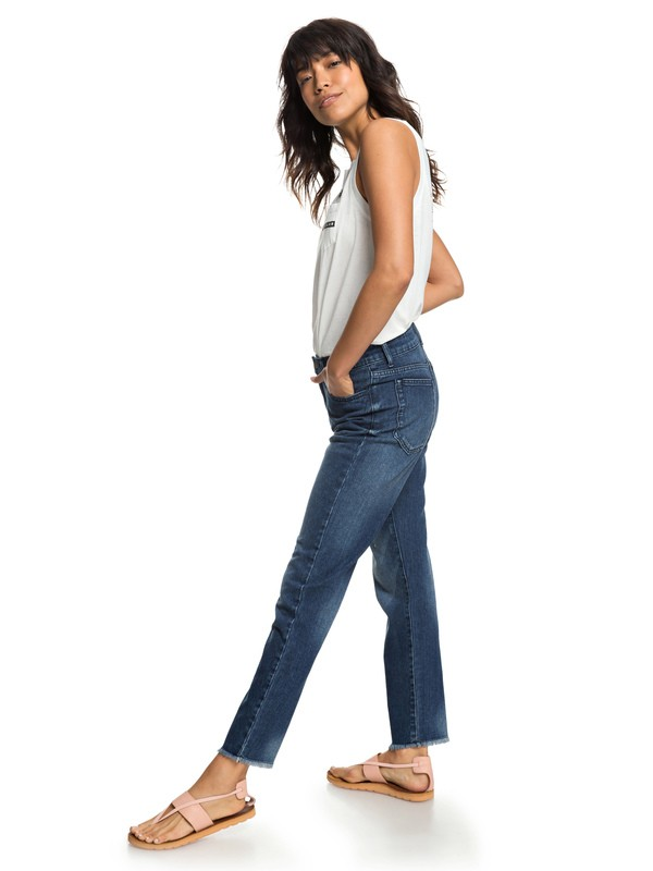 0 Citizen Cosmos - Straight Fit Jeans for Women Blue ERJDP03208 Roxy